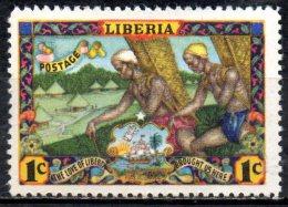 LIBERIA 1949 1c. - Settlers Approaching Village  MH - Liberia