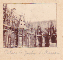 AU- 2 Photos Stereoscopiques 40x45mm Vers 1900. Rouen, France -palais Justice -notre Dame - Photos Stéréoscopiques