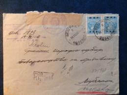 37/938     LETTRE RECOMM. JOEGOSLAVIE  1950 - 1945-1992 Socialist Federal Republic Of Yugoslavia