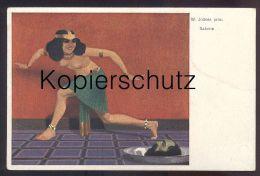 ALTE KÜNSTLER-POSTKARTE SALOME Frau Femme Seins Nus Nude Breast Woman Nudity Cpa Postcard AK Ansichtskarte - Vintage Women < 1920