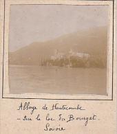 AZ- 2 Photos Stereoscopiques 40x45mm Vers 1900. Aix Les Bains, France, Abbaye Hautecombe Lac Bourget - Photos Stéréoscopiques