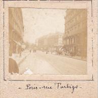 BB- 2 Photos Stereoscopiques 40x45mm Vers 1900. Paris France Rue Turbigo - Place République - Photos Stéréoscopiques