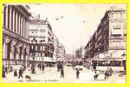 * Marseille (Dép 13 - Bouches Du Rhone - France) * (ELD, Nr 1628) La Cannebière, Centre, Animée, Tram, Vicinal, CPA Rare - Canebière, Centro