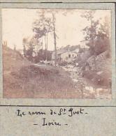 BE- 2 Photos Stereoscopiques 40x45mm Vers 1900. Saint Just Loire France -loire Pertuiset -ravin - Photos Stéréoscopiques