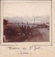 BF- 2 Photos Stereoscopiques 40x45mm Vers 1900. Saint Just Loire France -viaduc Maison Train - Photos Stéréoscopiques