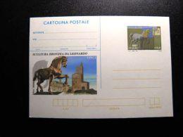 Stationery Card From Italy Italia 1991 Sculpture Horse Leonardo Vinci - 6. 1946-.. República