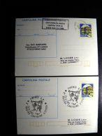 2 Stationery Card From Italy Italia - 6. 1946-.. Republic