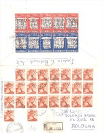 1963 25 X £ 5 Michelangiolesca 10x £ 10Antitubercolare Retro Busta Su Raccomandata - 1961-70: Storia Postale