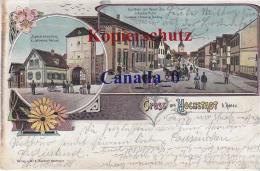 P  3 --- Hochstadt /Main, Specereihdlg Hensell,´ß, Gasths U.Neuen Baun Inh: Huhn  25.7.1904 N.Kosthm - Other