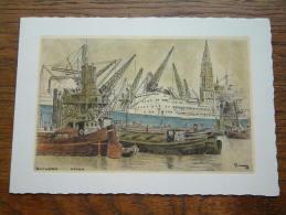HAVEN - Antwerpen / WENSKAART Dubbel EDV 214 - Anno 19?? ( 17 X 12 Cm. / Zie Foto Voor Details ) !! - België