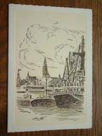HAVEN / STAD ( Niet Vermeld ) Antwerpen / WENSKAART Dubbel EDV 141 - Anno 19? ( 17 X 12 Cm. / Zie Foto Voor Details ) !! - België