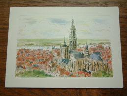 PANORAMA Antwerpen / WENSKAART Dubbel EDV 201 - Anno 19?? ( 185 X 133 Mm. / Zie Foto Voor Details ) !! - Zonder Classificatie