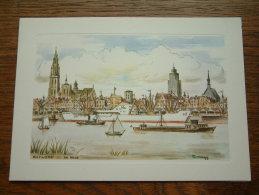 DE REDE Antwerpen / WENSKAART Dubbel EDV 202 - Anno 19?? ( 185 X 133 Mm. / Zie Foto Voor Details ) !! - Zonder Classificatie
