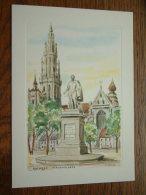 GROENPLAATS Antwerpen / WENSKAART Dubbel EDV 211 - Anno 19?? ( 185 X 133 Mm. / Zie Foto Voor Details ) !! - Belgique