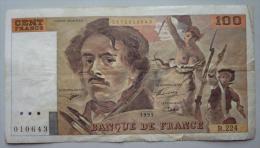 100 Francs 1993   Alphabet  B.224      Delacroix - 100 F 1978-1995 ''Delacroix''