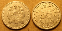 Ville De Gex - 5 C. - 21 Mm - Monetary / Of Necessity