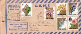 1968 COOK ISLANDS, Sehr Schöne 5 Fach Frankierung Auf Air Mail Brief Gelaufen Von Rarotonga - Cook Islands Nach Brüssel - Cookinseln