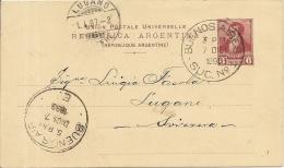 1899 Ganzsache Gelaufen In Die Schweiz - Entiers Postaux
