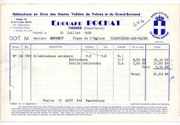Edouard Pochat - Reblochons En Gros Des Hautes Vallées De Thônes Et Du Grand Bornand - 1962 - Food