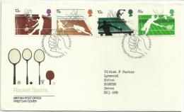 Great Britain 1977 - RACKET SPORTS Royal Mail First Day Cover- FDC - FDC
