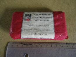 Mull-Kompresse 10cmX7cm (rouge) 1940 Allemand - Equipement