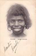 22031 Thomazi - Tunisie Régence De Tunis, Enfant Bédouine -5 C Vert 1914