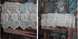 Pour Habits De Poupées. Dentelle Ancienne. Environ 40cm_L69-loud10-F - Laces & Cloth