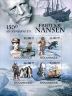 MOZAMBIQUE 2011 MNH** - Fridtjof Nansen, Penguins - Mi 4489-92 - Polar Ships & Icebreakers