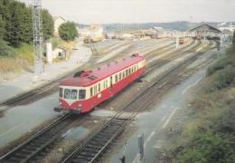 CPM TRAIN GARE DE PERIGUEUX 24 AUTORAIL X 2425 MANOEUVRE POUR LIMOGES 1986   RAIL USSELLOIS - Trains