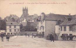 21993 Thomazi - Quimperlé, Vue Prise Place Nationale, Près Moulin Ville. Coll Paris-Morbihan -attelage Vache
