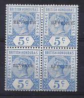 BRITISH HONDURAS SG 66 M/M & 66d U/M  BLOCK OF 4 CAT £114 SEE SCAN - Britisch-Honduras (...-1970)
