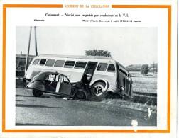 Accident De La Circulation Le 06 Août  1953 à  Muret ((31) : CITROEN 2 CV Contre Un Car  (En L´état) - Affiches