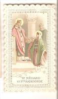 IMAGE RELIGIEUSE PIEUSE ST MEDARD STE RADEGONDE - Devotion Images