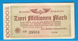 ALEMANIA - GERMANY -  2.000.000 Mark  1923 SC - [ 3] 1918-1933 : República De Weimar