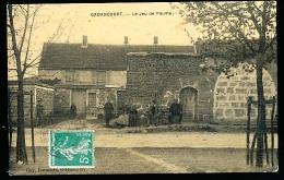 95 GADANCOURT / Le Jeu De Paume / BELLE CARTE COULEUR TOILEE - Autres Communes