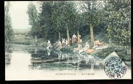 95 HEROUVILLE / Le Lavoir / BELLE CARTE COULEUR - Autres Communes