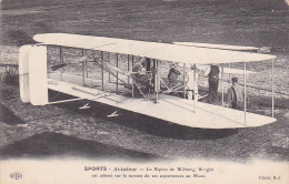 22038 SPORTS AVIATION Le Biplan De Wilburg Wright Amené Terrain Experiences Mans (france )-ELD Cliché ROL - ....-1914: Précurseurs