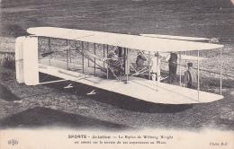22038 SPORTS AVIATION Le Biplan De Wilburg Wright Amené Terrain Experiences Mans (france )-ELD Cliché ROL