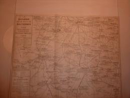 CARTE DU BAZADAIS ET SAUTERNES 1948 CHATEAUX VINICOLES VINS VIGNE TRAIN VILLANDRAUT - Cartes