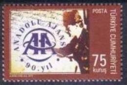 2010 TURKEY 90TH ANNIVERSARY OF ANADOLU AGENCY MNH ** - Nuevos