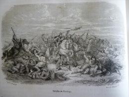 Bataille De Hastings , Gravure Smith D'aprés Dessin Lefévre , Circa 1850 - Documents Historiques