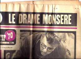 Journal Du 14 MARS 1971 édition Spéciale '' SPORTIF' 70 '' Jean Pierre MONSERE (Jempi) Est Mort à 15h. 37  (cav) - Journaux - Quotidiens