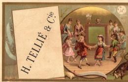 CHROMO  GAUFRETTES GAULOISES  H. TELLIE & Cie Paris  == - Süsswaren
