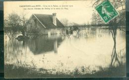 Carrières Sous Bois - Crue De La Seine 31 Janvier 1910 , Les Clos Du Chateau Du Belloy Et La Route De Pecq - Abv65 - Autres Communes