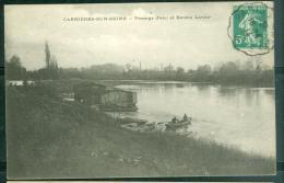 CARRIERES-sur Seine - Passage D'eau Et Bateau Lavoir   - Abv69 - Carrières-sur-Seine