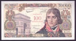 France 100/10000 Francs 1958 VF-XF Rare - 1955-1959 Surchargés En Nouveaux Francs