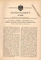 Original Patentschrift -P. Tidick In Gendrin B. Abelischken / Belkino ,1893, Hackmaschine, Mosyr , Friedland Ostpreussen - Maschinen