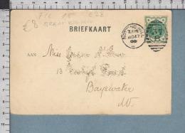 C28 GREAT BRITAIN Postal History 1900 ONE HALF PENNY NOTTING HILL HAARLEM - 1840-1901 (Regina Victoria)