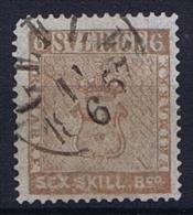 Sweden: 1855 Mi Nr 3 B Grey Braun , Used, Facit 3b