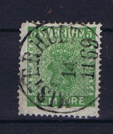 Sweden: 1858 Mi Nr 7 C  , Used, Facit 7 Dark Green - Zweden